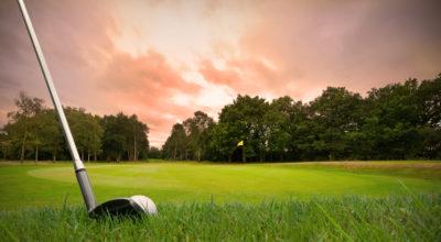 Golf at dusk